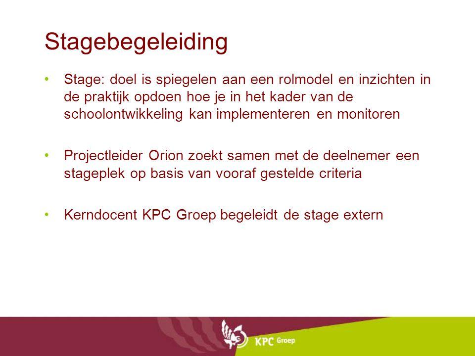 Stagebegeleiding