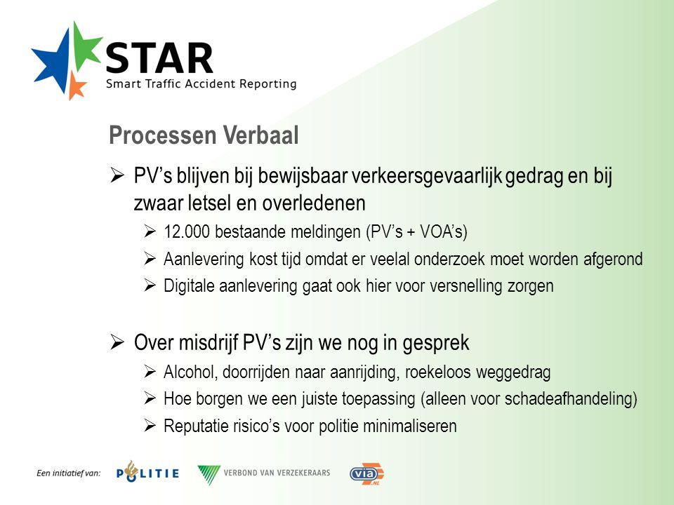 Processen Verbaal PV's blijven bij bewijsbaar verkeersgevaarlijk gedrag en bij zwaar letsel en overledenen.
