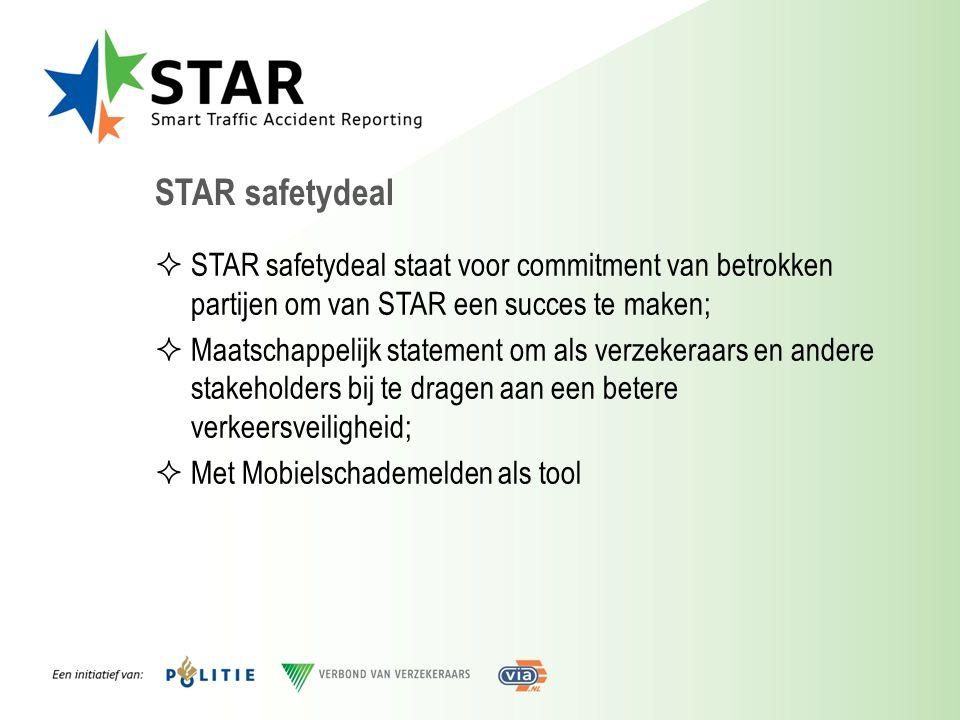 STAR safetydeal STAR safetydeal staat voor commitment van betrokken partijen om van STAR een succes te maken;