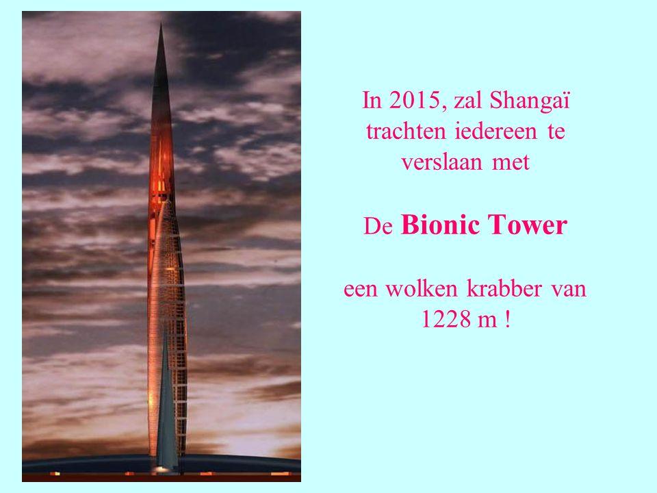 In 2015, zal Shangaï trachten iedereen te verslaan met De Bionic Tower een wolken krabber van 1228 m !