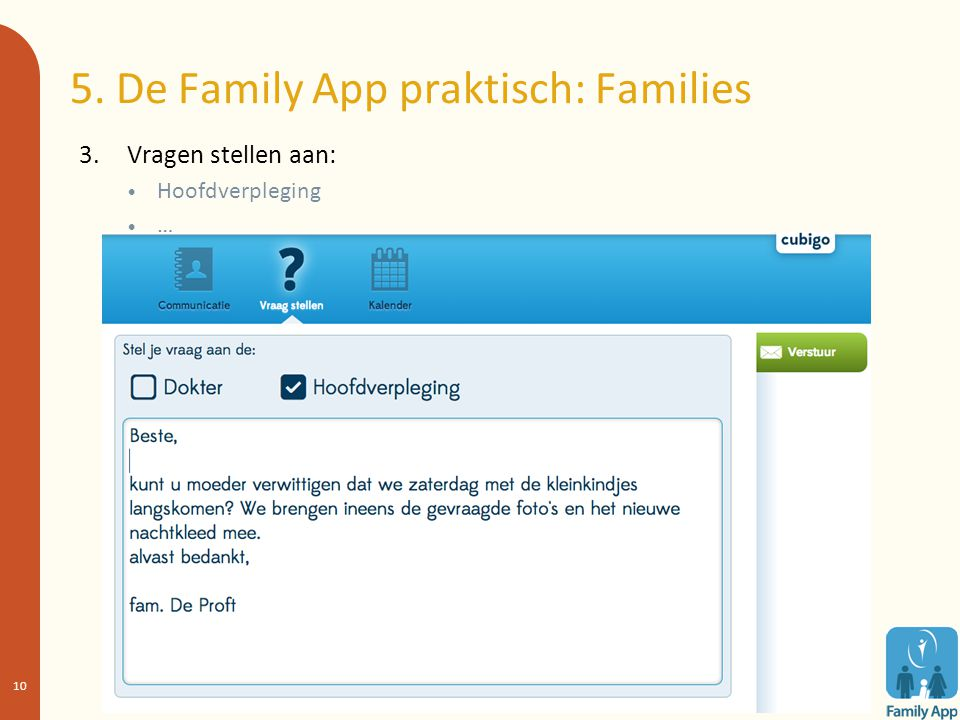 5. De Family App praktisch: Families