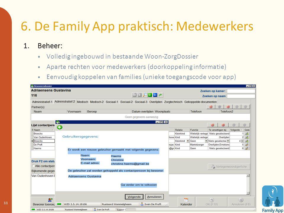6. De Family App praktisch: Medewerkers
