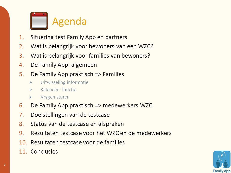 Agenda Situering test Family App en partners