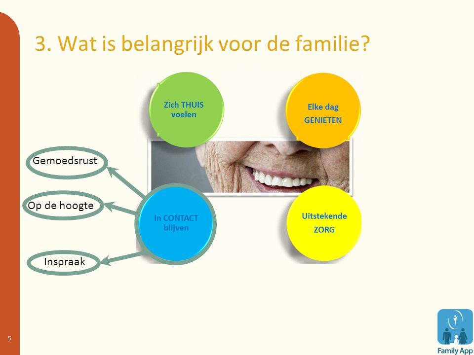 3. Wat is belangrijk voor de familie