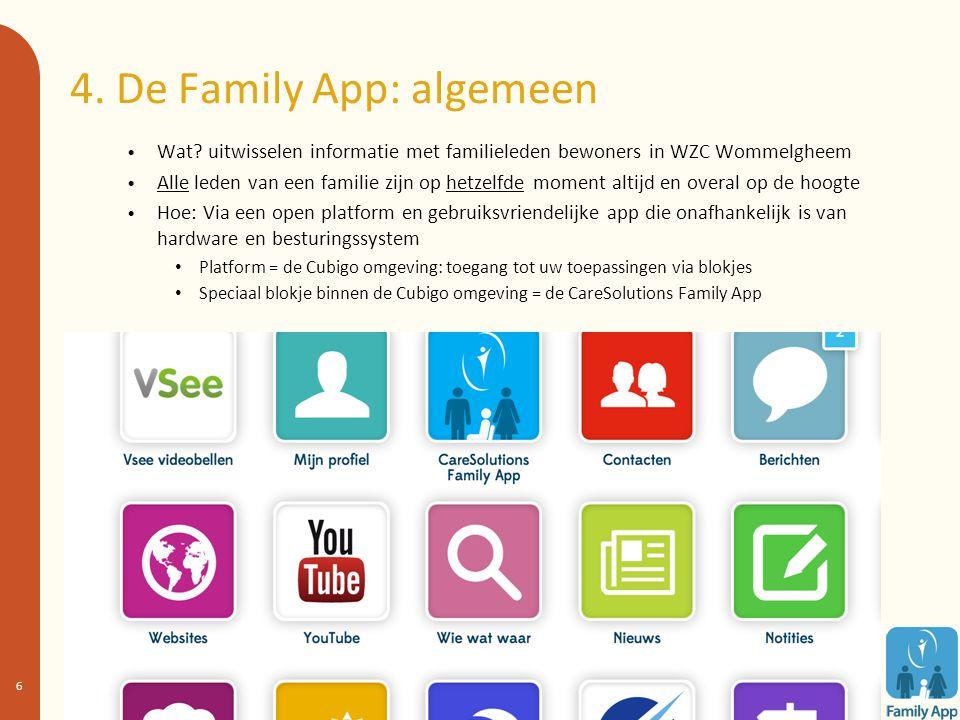 4. De Family App: algemeen