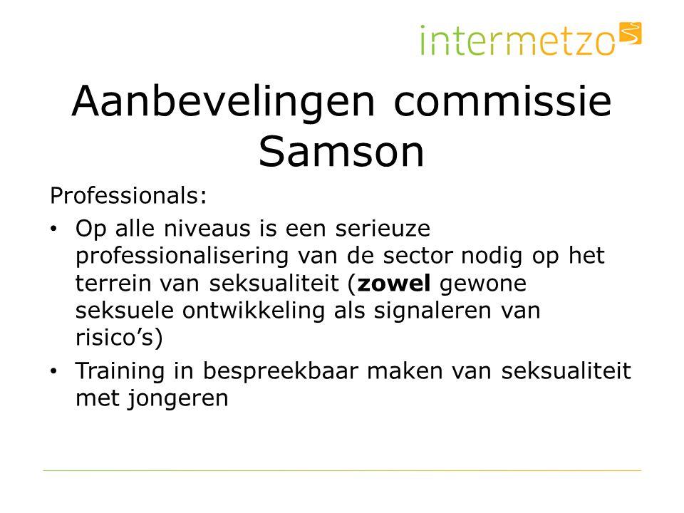 Aanbevelingen commissie Samson