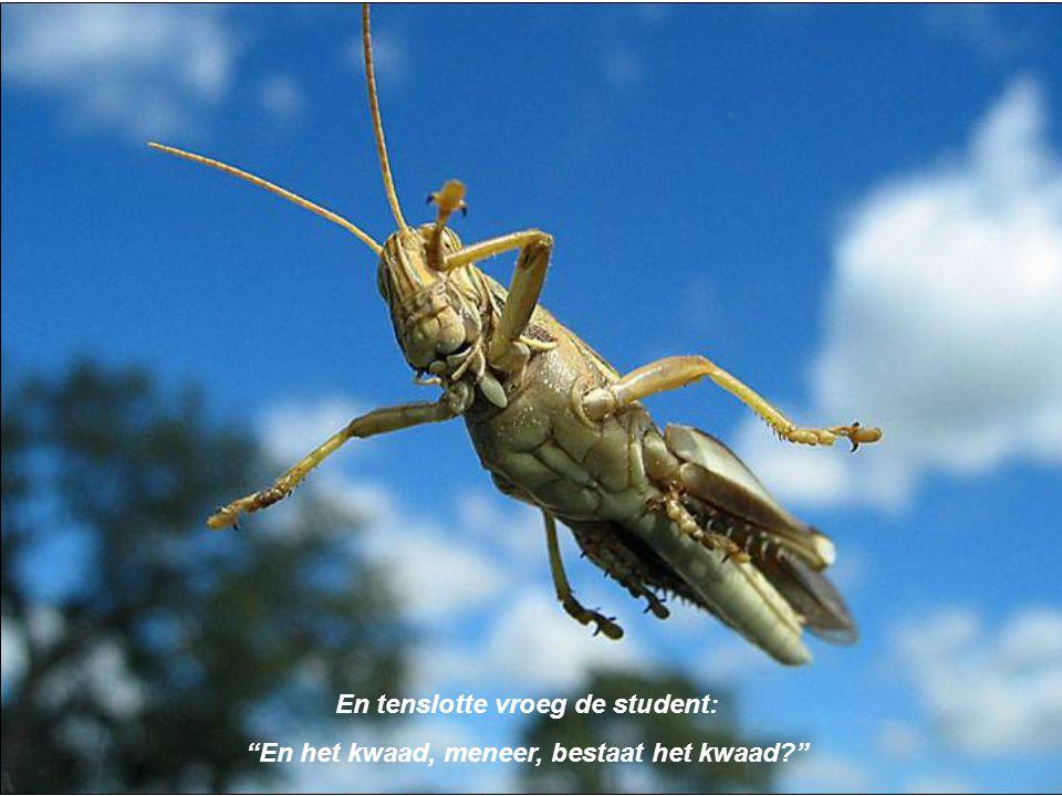 En tenslotte vroeg de student: