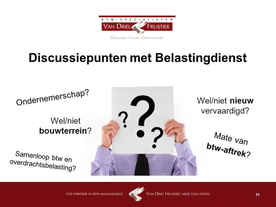 Discussiepunten met Belastingdienst