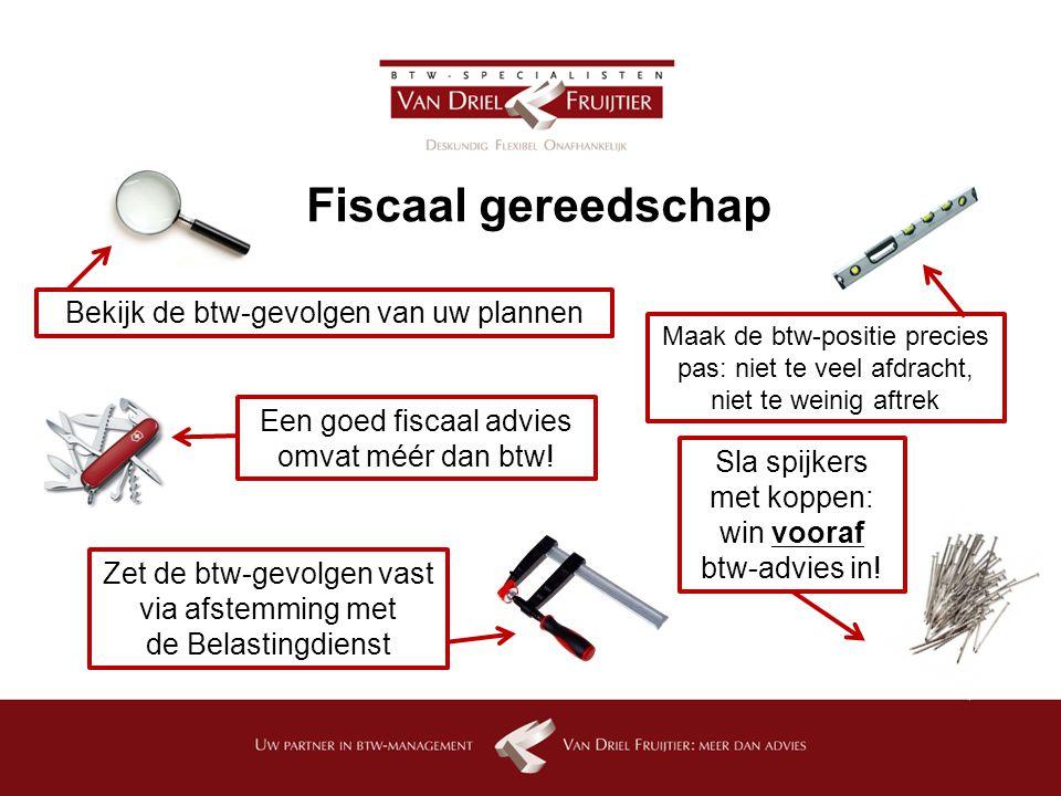 Fiscaal gereedschap Bekijk de btw-gevolgen van uw plannen