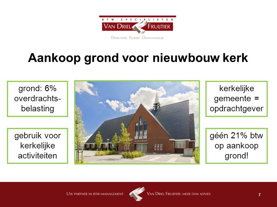 Aankoop grond voor nieuwbouw kerk