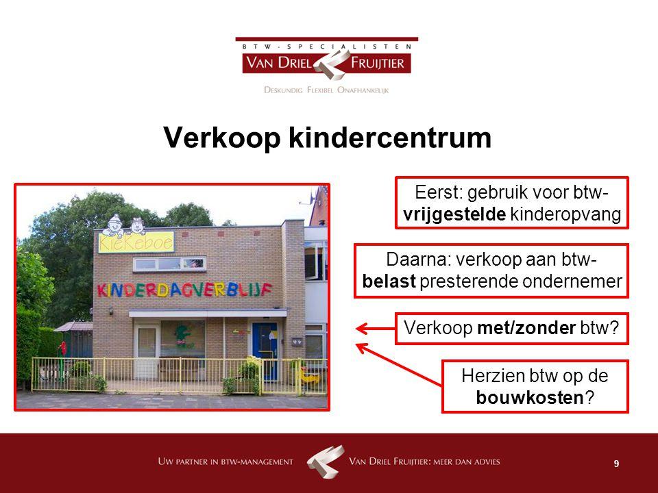 Verkoop kindercentrum