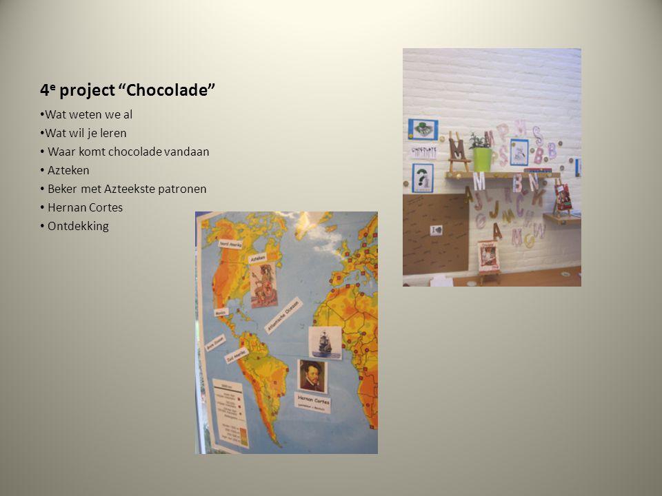 4e project Chocolade Wat weten we al Wat wil je leren