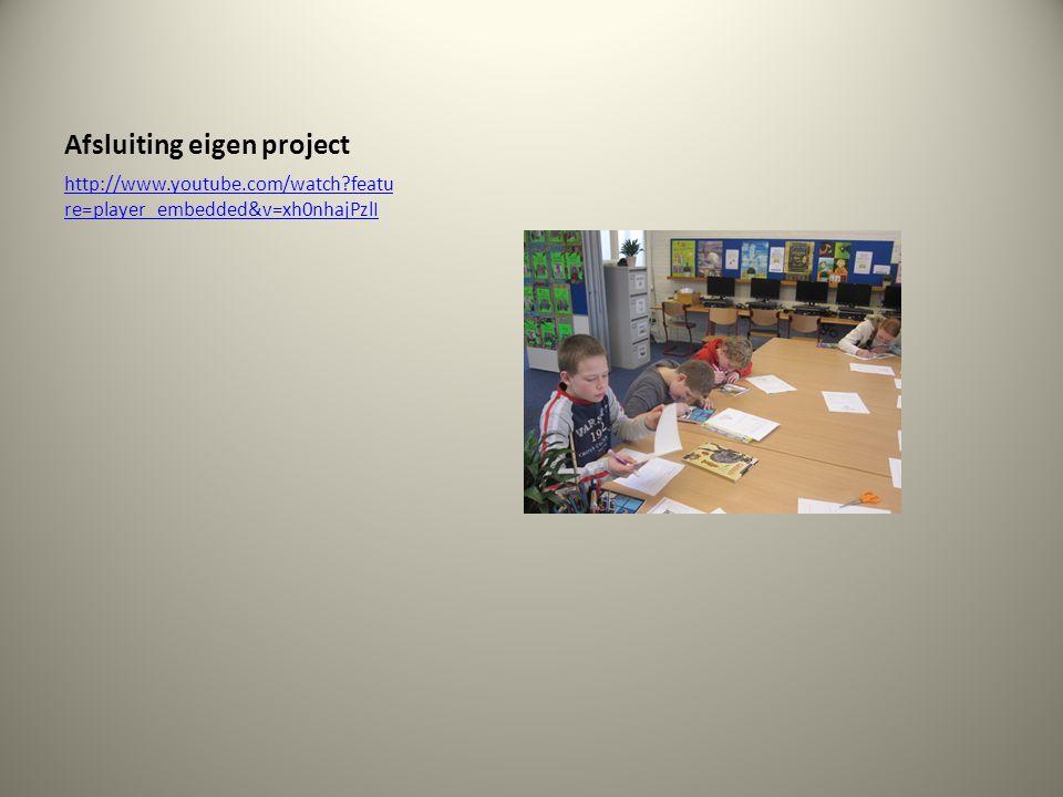Afsluiting eigen project