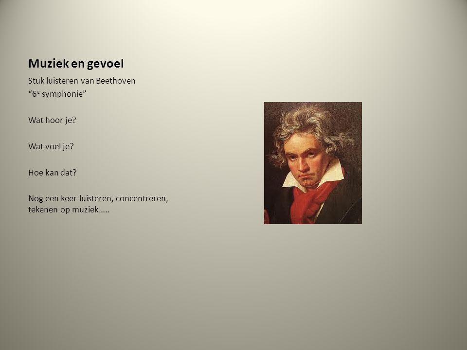 Muziek en gevoel Stuk luisteren van Beethoven 6e symphonie