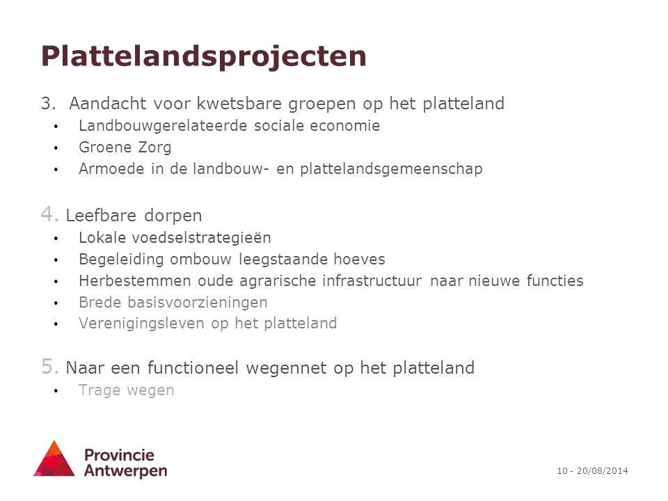 Plattelandsprojecten