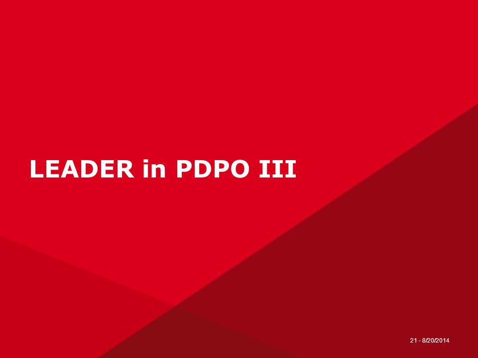 LEADER in PDPO III