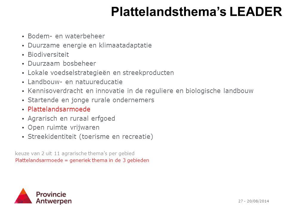 Plattelandsthema's LEADER