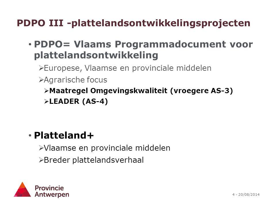 PDPO III -plattelandsontwikkelingsprojecten