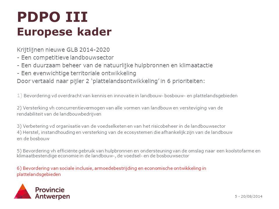 PDPO III Europese kader