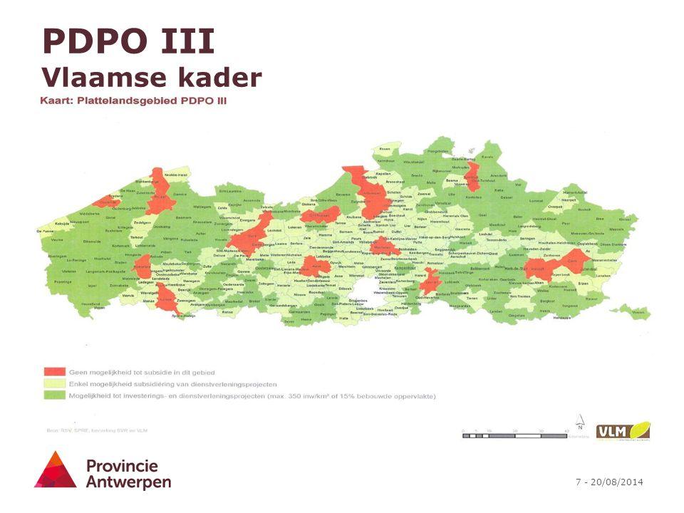 PDPO III Vlaamse kader
