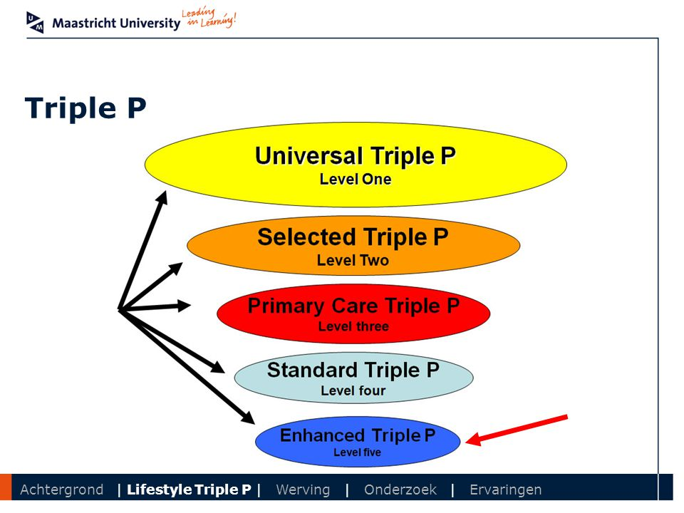 Triple P Achtergrond | Lifestyle Triple P | Werving | Onderzoek | Ervaringen
