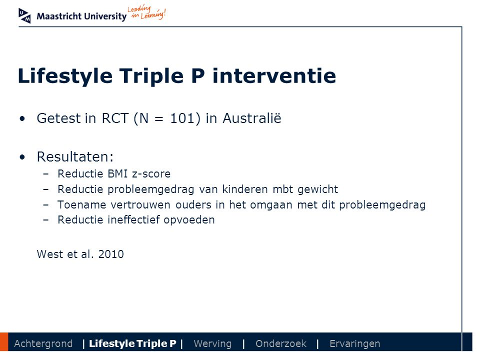 Lifestyle Triple P interventie
