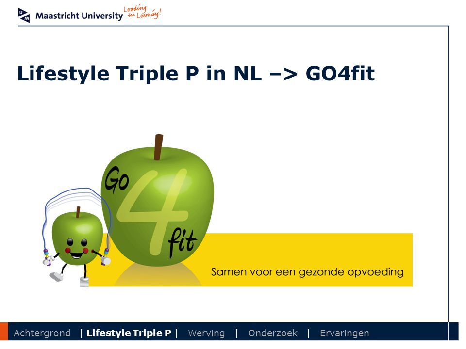 Lifestyle Triple P in NL –> GO4fit