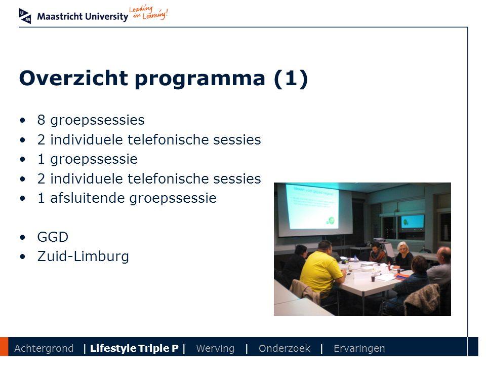 Overzicht programma (1)
