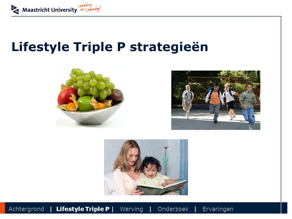 Lifestyle Triple P strategieën