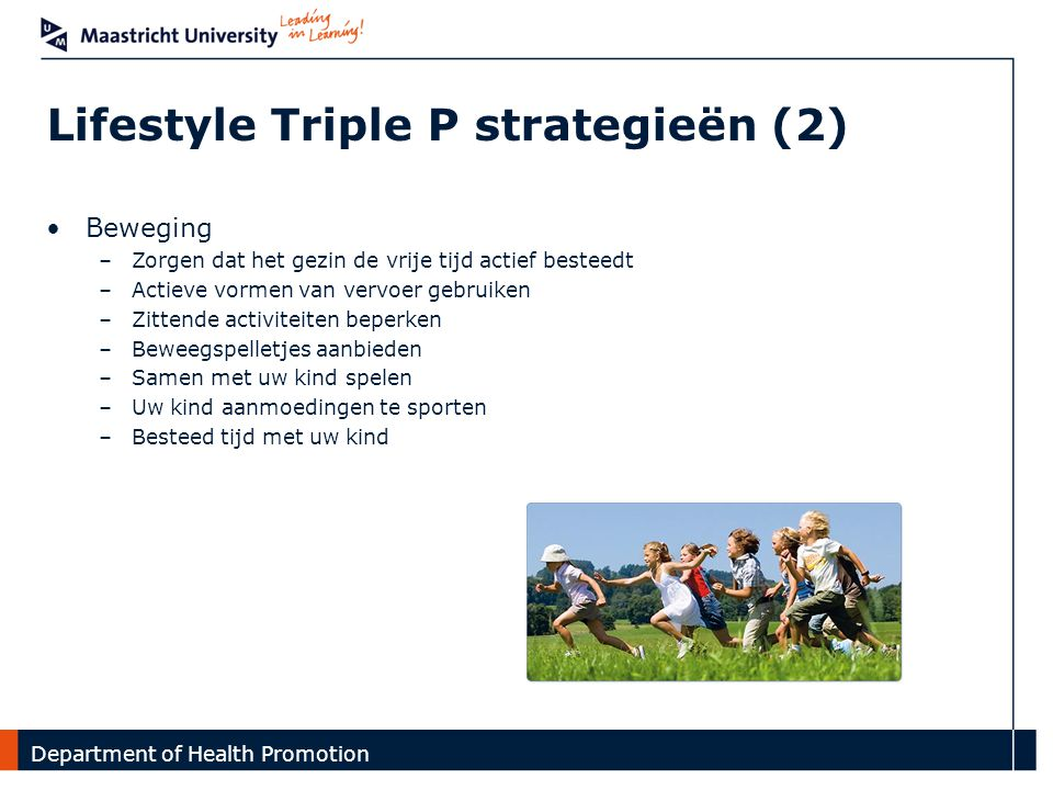 Lifestyle Triple P strategieën (2)