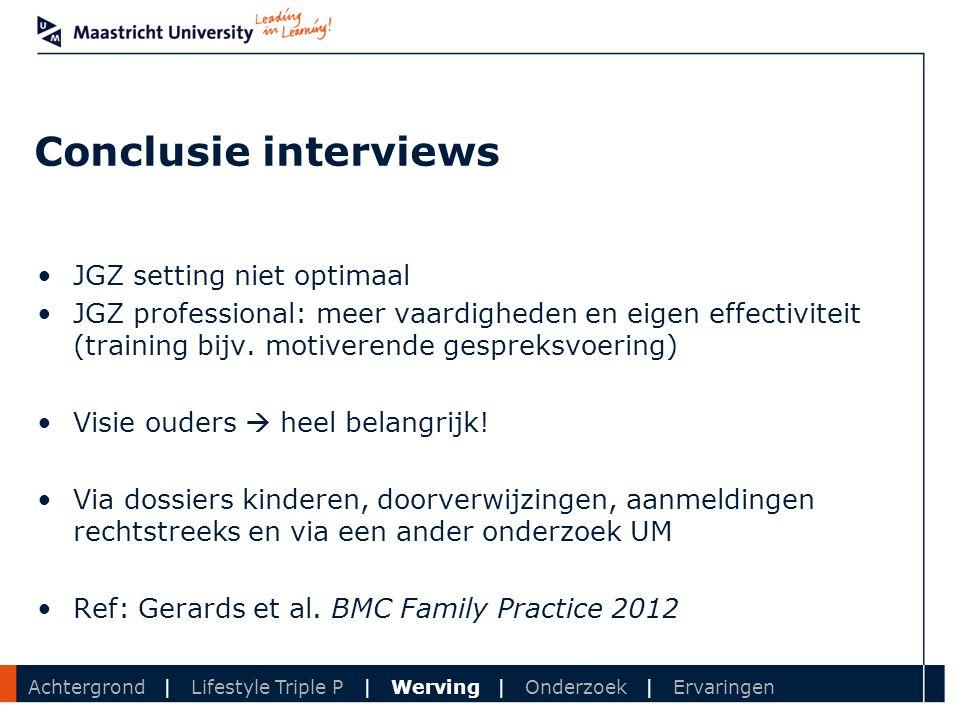 Conclusie interviews JGZ setting niet optimaal