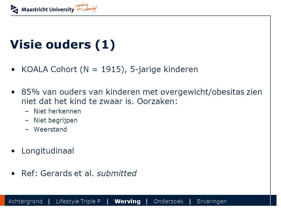 Visie ouders (1) KOALA Cohort (N = 1915), 5-jarige kinderen