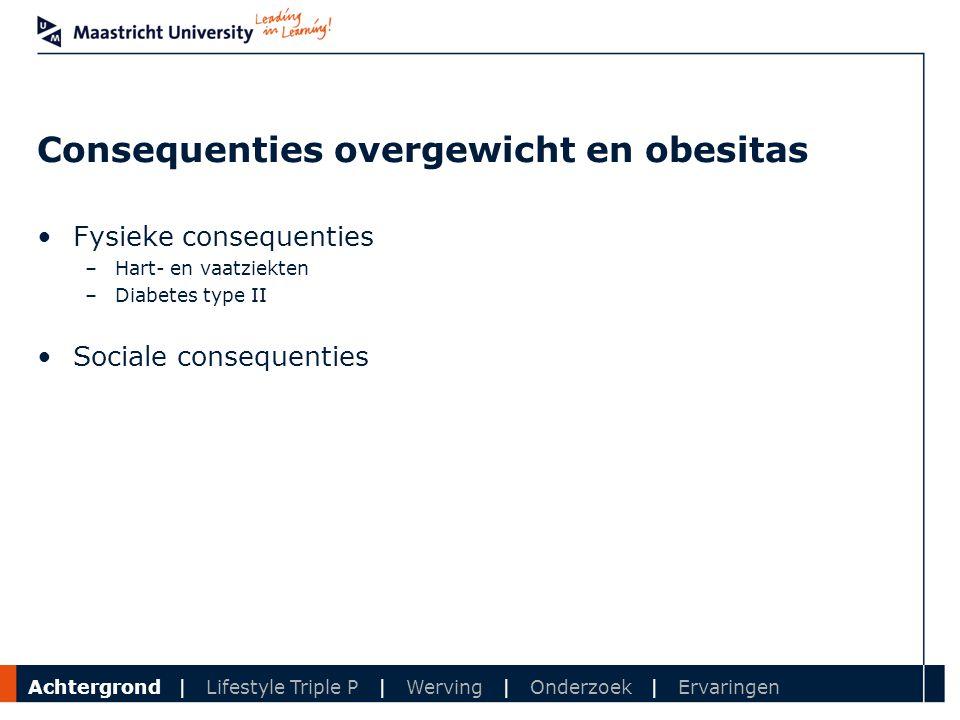 Consequenties overgewicht en obesitas