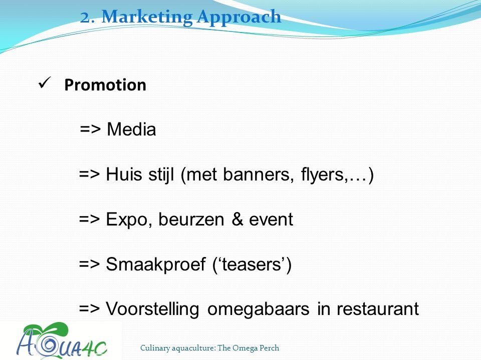 2. Marketing Approach Promotion => Media