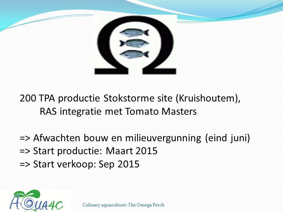 200 TPA productie Stokstorme site (Kruishoutem),