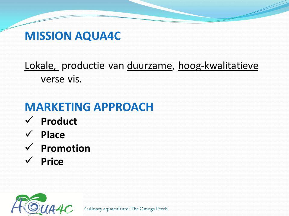 MISSION AQUA4C MARKETING APPROACH