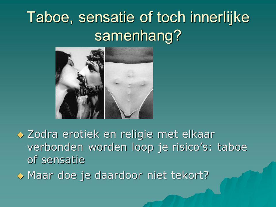 Taboe, sensatie of toch innerlijke samenhang