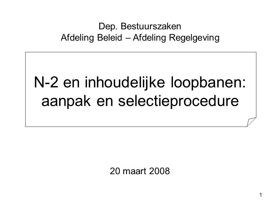 N-2 en inhoudelijke loopbanen: aanpak en selectieprocedure