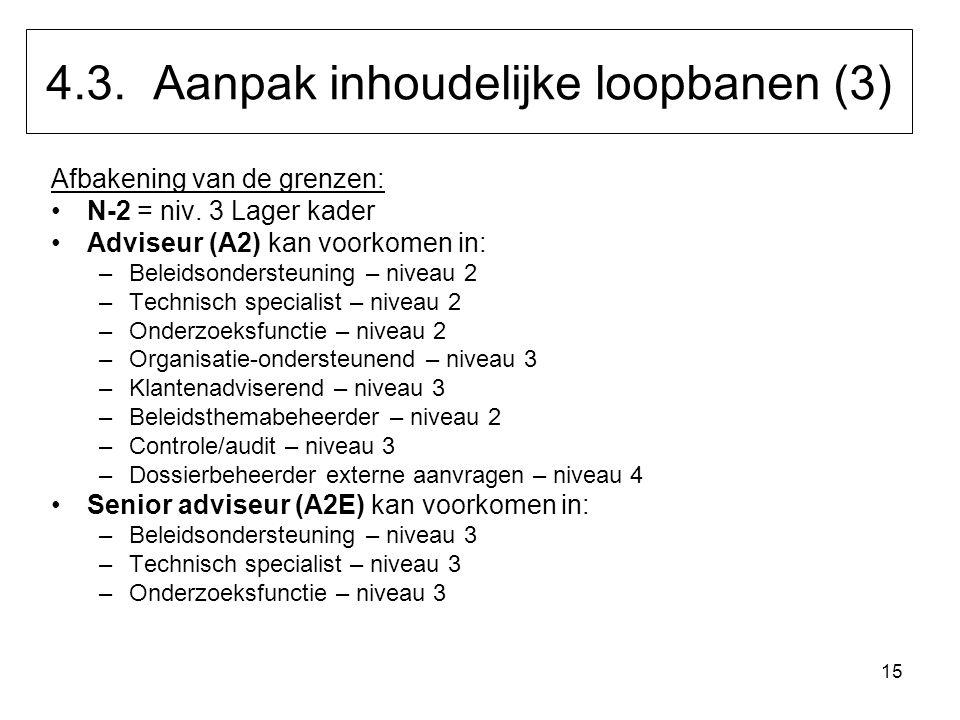 4.3. Aanpak inhoudelijke loopbanen (3)