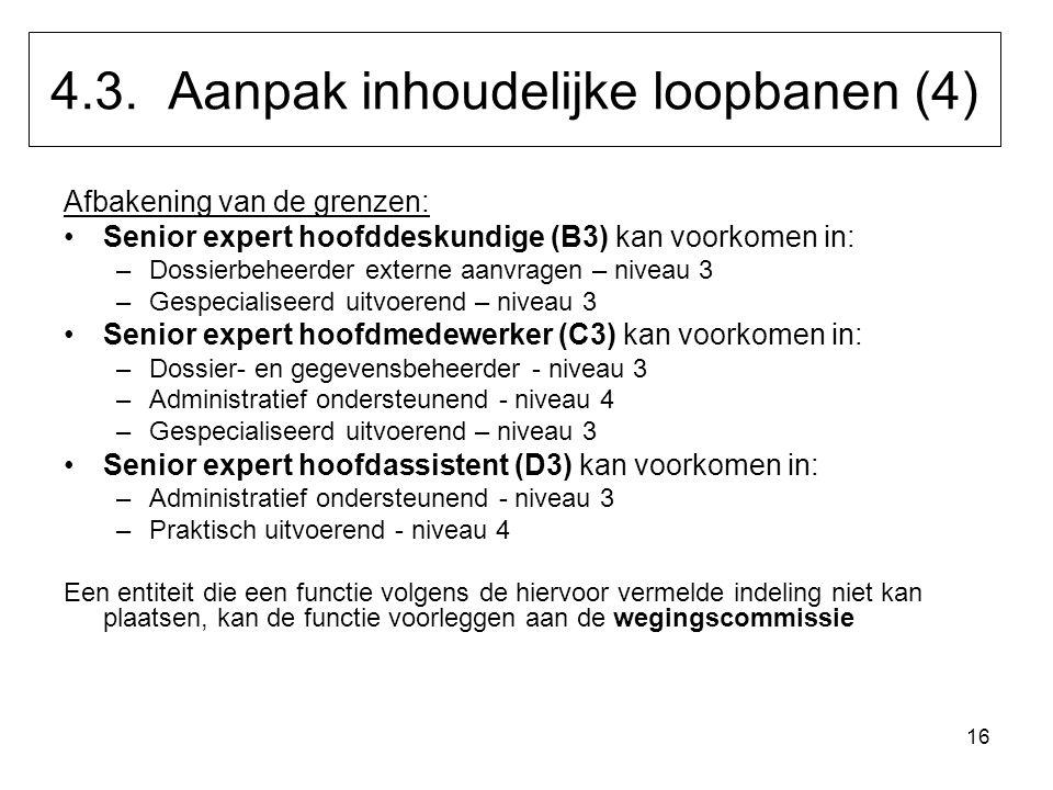 4.3. Aanpak inhoudelijke loopbanen (4)