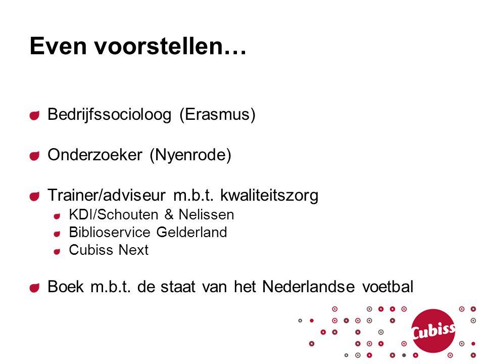 Even voorstellen… Bedrijfssocioloog (Erasmus) Onderzoeker (Nyenrode)