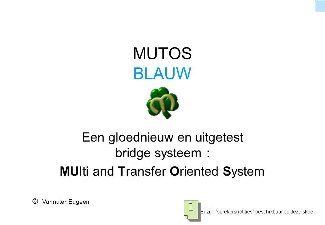 MUTOS BLAUW Een gloednieuw en uitgetest bridge systeem :