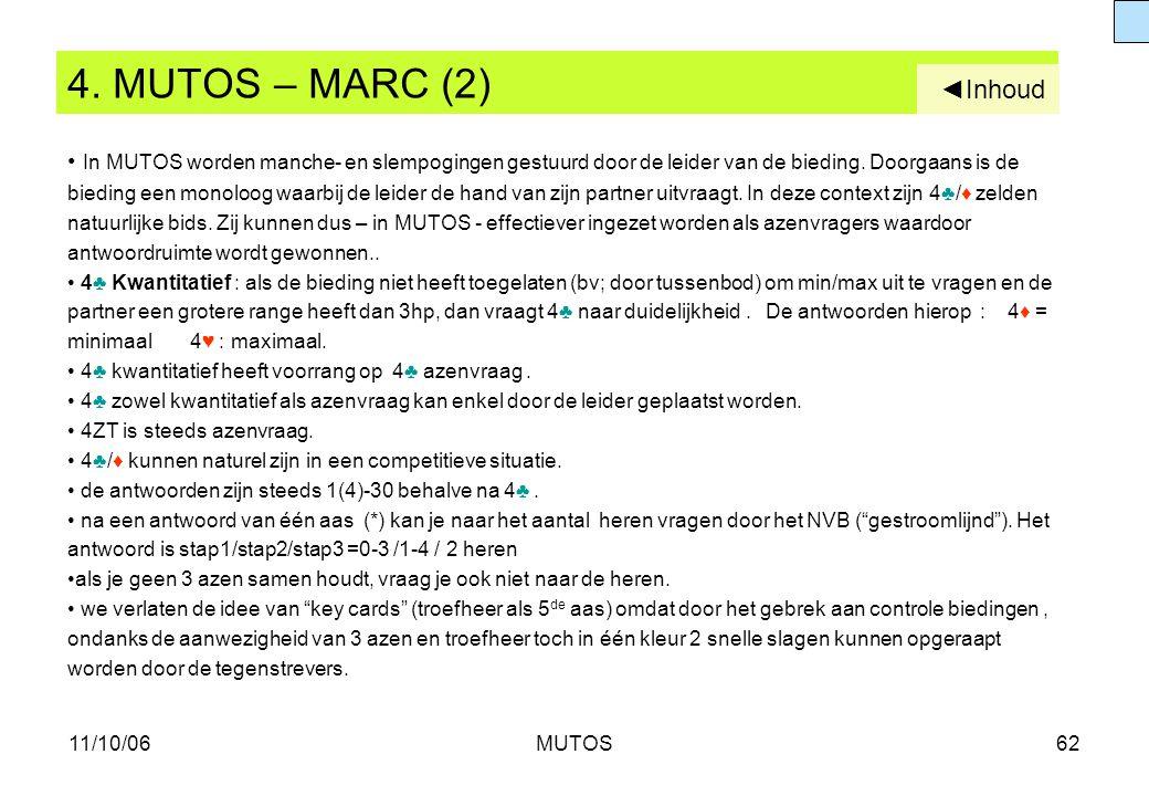 4. MUTOS – MARC (2) ◄Inhoud.