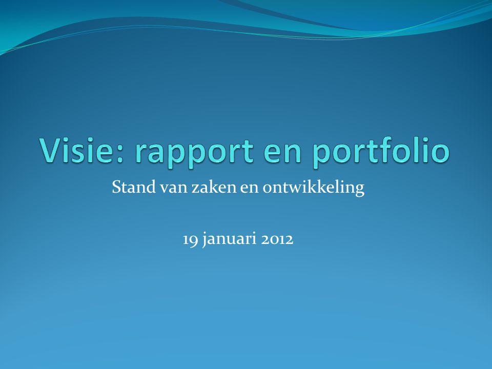 Visie: rapport en portfolio