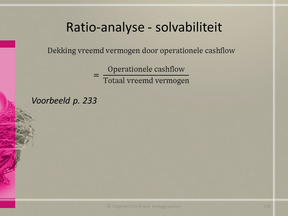 Ratio-analyse - solvabiliteit