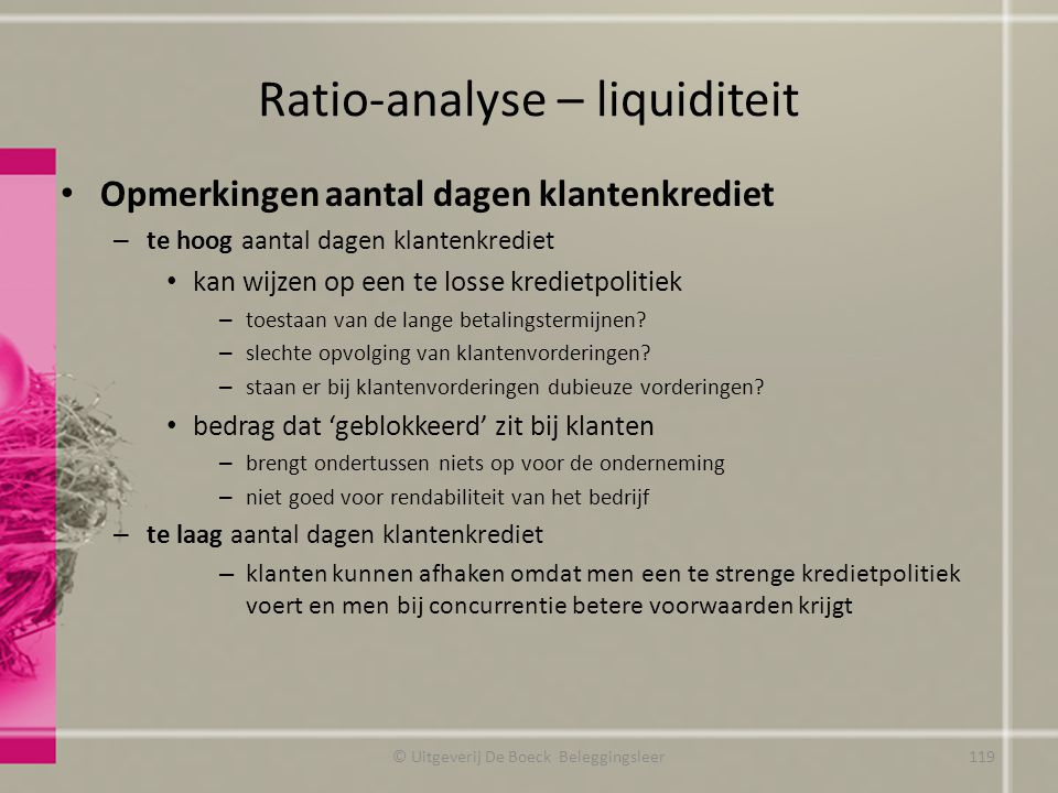 Ratio-analyse – liquiditeit