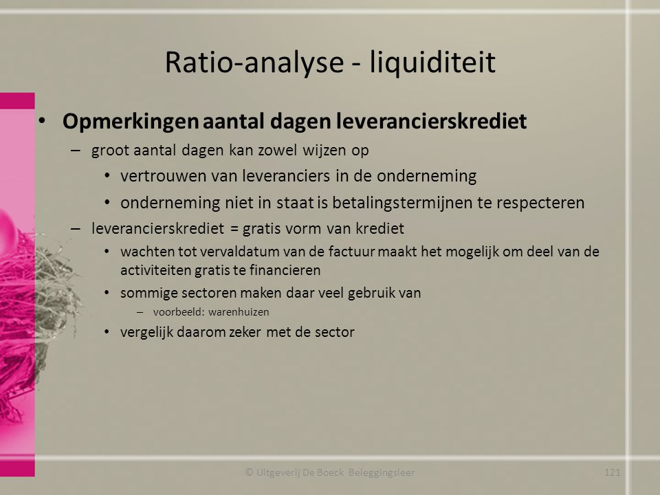 Ratio-analyse - liquiditeit