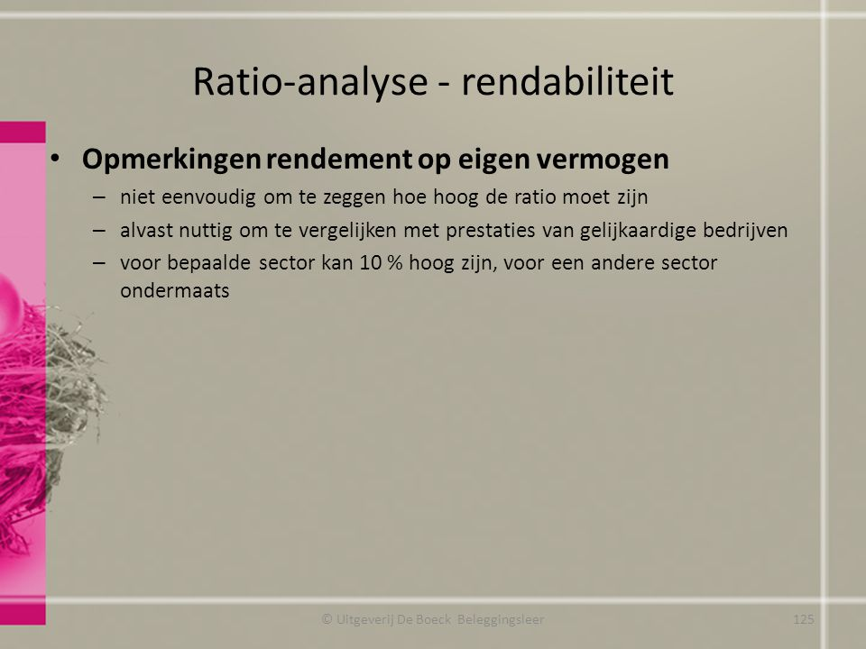 Ratio-analyse - rendabiliteit