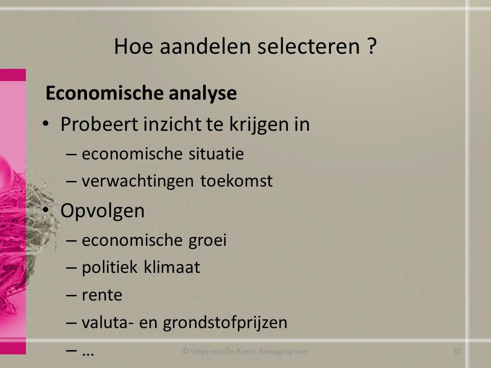 Hoe aandelen selecteren
