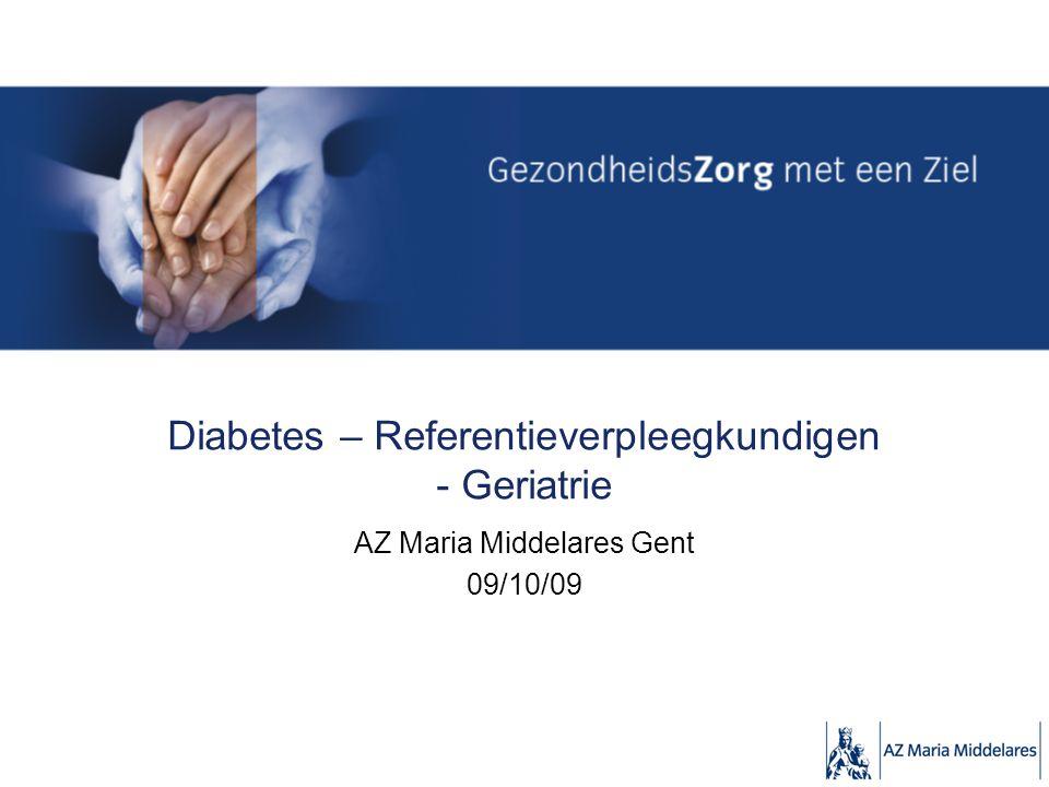 Diabetes – Referentieverpleegkundigen - Geriatrie